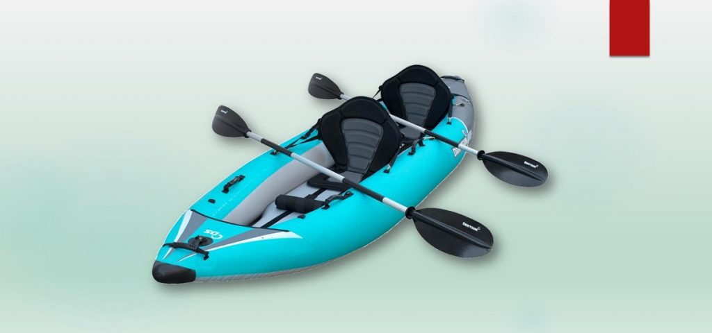 kayaks for fat people - Driftsun Rover 220 Inflatable Tandem White-Water Kayak